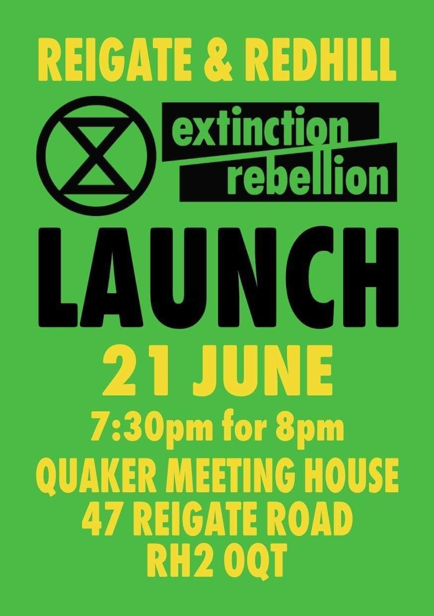 Extinction Rebellion. Come and join us #quakers #reigate #redhill #extinctionrebellion